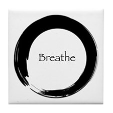 Enso with Breathe Tile Coaster