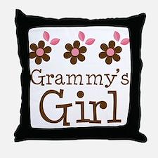 Grammy's Girl Daisies Throw Pillow
