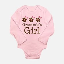 Grammie's Girl Daisies Long Sleeve Infant Bodysuit