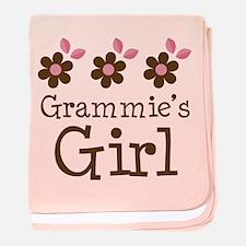 Grammie's Girl Daisies baby blanket