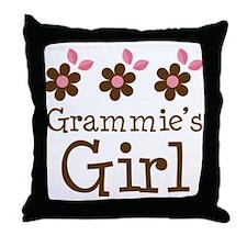 Grammie's Girl Daisies Throw Pillow
