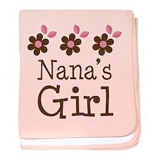 Nana's Girl Daisies baby blanket