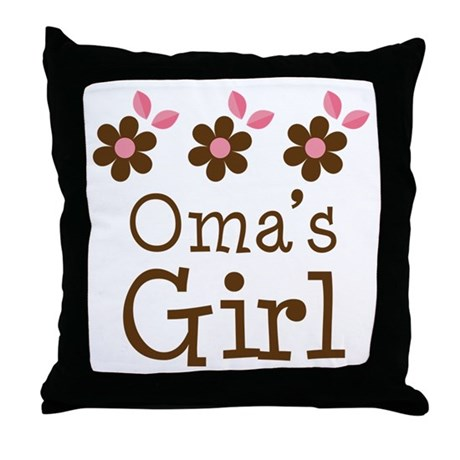 Oma's Girl Daisies Throw Pillow