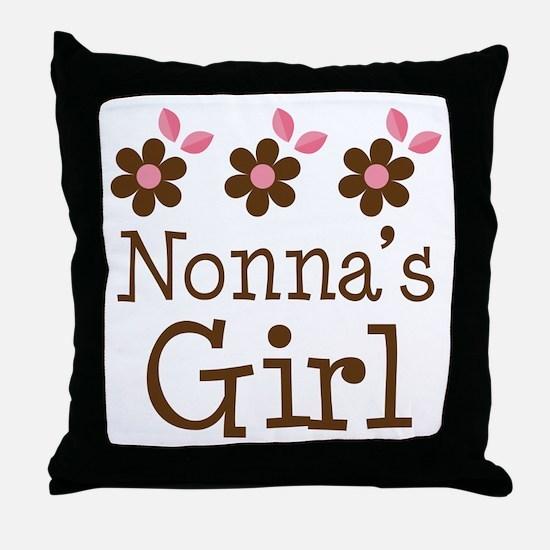 Nonna's Girl Daisies Throw Pillow