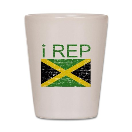 I Rep Jamaica Shot Glass