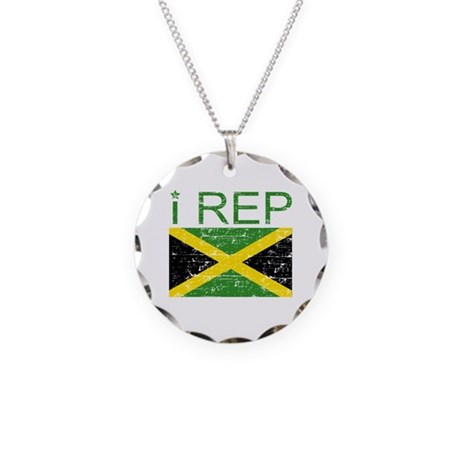 I Rep Jamaica Necklace Circle Charm