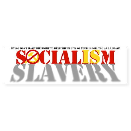 Socialism is Slavery Sticker (Bumper)