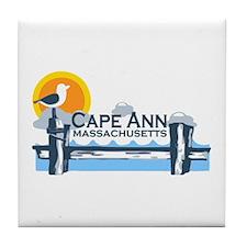 Cape Ann - Pier Design. Tile Coaster