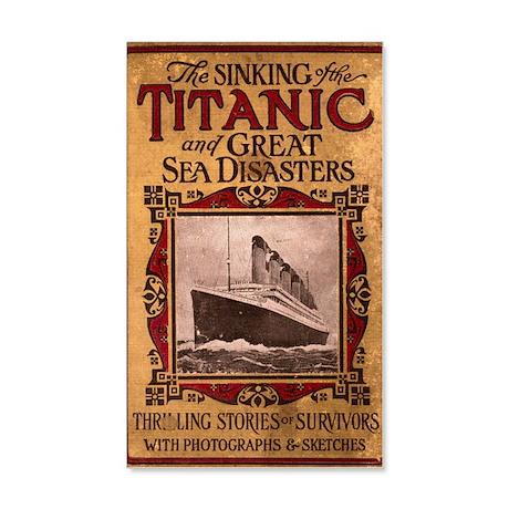 Sinking of the Titanic 38.5 x 24.5 Wall Peel