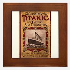 Sinking of the Titanic Framed Tile