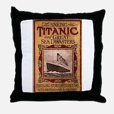 Sinking of the Titanic Throw Pillow