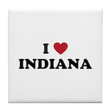 Cute Indiana hoosiers Tile Coaster