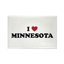 Cute Minneapolis basketball Rectangle Magnet