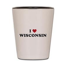 Wisconsin badgers Shot Glass