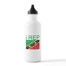I Rep Saint Kitts Water Bottle