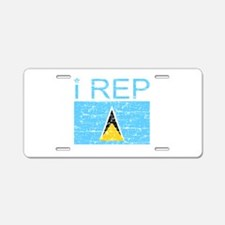 I Rep Saint Lucia Aluminum License Plate
