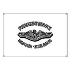 USN Submarine Service Dolphins Banner
