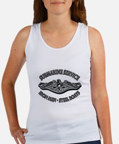 USN Submarine Service Dolphins Women's Tank Top