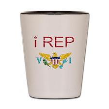 I Rep United State Virgin Shot Glass