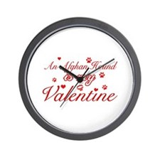 An Afghan Hound is my valentines Wall Clock