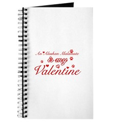 An Alaskan Malamute is my valentines Journal