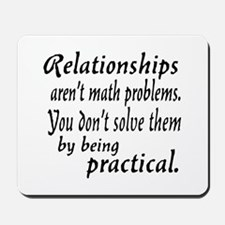 Castle Relationships Quote Mousepad
