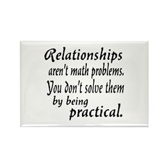 Castle Relationships Quote Rectangle Magnet (100 p