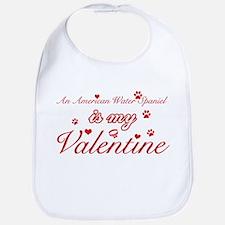 An American Water Spaniel is my valentines Bib