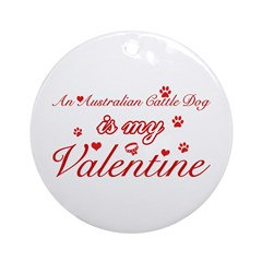 AnAustralian Cattle dog is my valentines Ornament