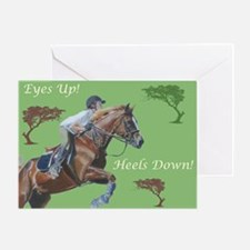 Eyes Up! Heels Down! Horse Greeting Card