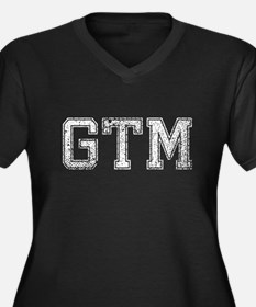 GTM, Vintage, Women's Plus Size V-Neck Dark T-Shir