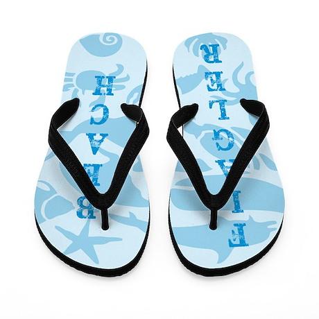Flagler Beach Sea Creatures Flip Flops
