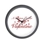 A Boston Terrier is my valentines Wall Clock