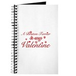 A Boston Terrier is my valentines Journal