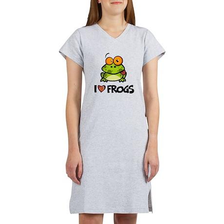 I Love Frogs Women's Nightshirt