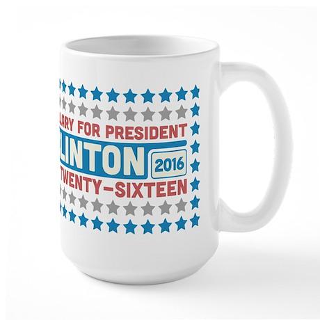 Starry Hillary for President 2016 Large Mug