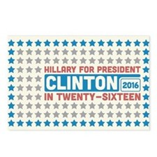 Starry Hillary for President 2016 Postcards (Packa