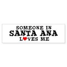 Santa Ana: Loves Me Bumper Car Car Sticker