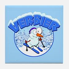 Verbier Snowman Tile Coaster