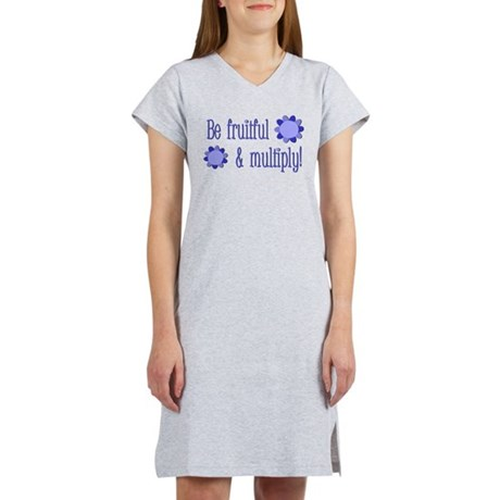 Be fruitful and multiply! blue design Women's Nigh
