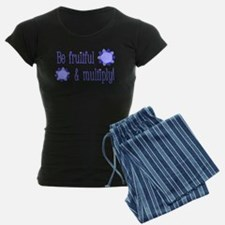 Be fruitful and multiply! blue design Pajamas