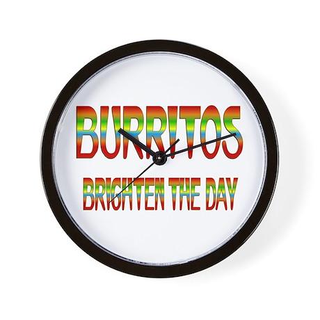 Burritos Brighten Wall Clock