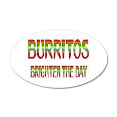 Burritos Brighten 22x14 Oval Wall Peel