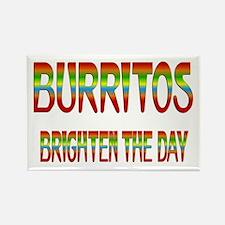 Burritos Brighten Rectangle Magnet