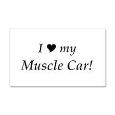 I Love My Muscle Car Car Magnet 20 x 12