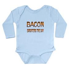 Bacon Brightens Long Sleeve Infant Bodysuit