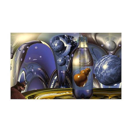 """""""Cosmic Cat"""" 38.5 x 24.5 Wall Peel"""