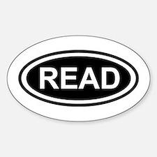Read Sticker (Oval)