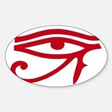 Eye of Ra Red Original.png Sticker (Oval)