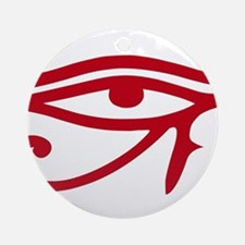 Eye of Ra Red Original.png Ornament (Round)